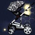 Suspensão carrinho de bebê carrinho de criança alta paisagem pode sentar ou deitar deck crianças entrega gratuita
