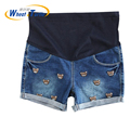 2016 New Arrival Fashion SummerMaternity Denim Shorts Animal Cartoon Decorated All Match Denim Short Jeans For Pregnant Women