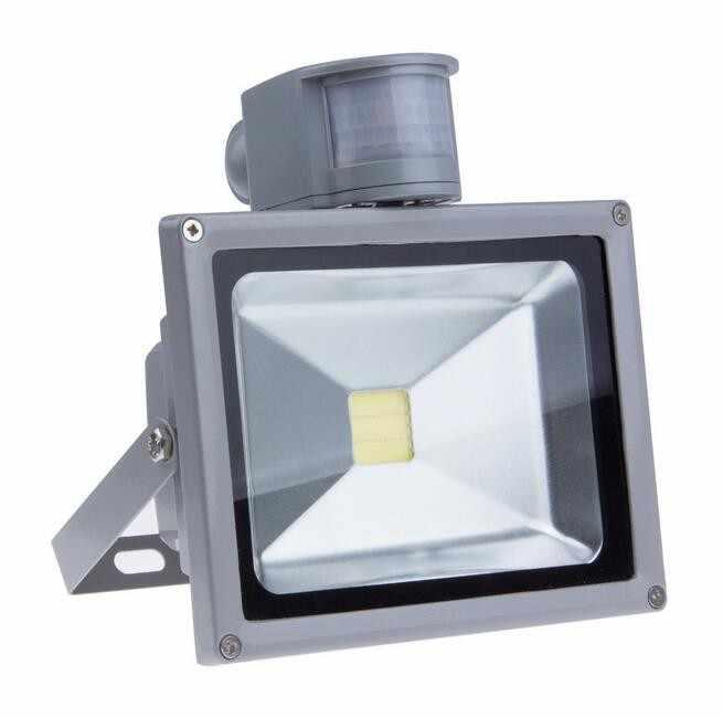 LED Flood light Sensor 10W 20W 30W 50W Outdoor lighting garden lamp 100W PIR with motion detective sensor reflector spotlight