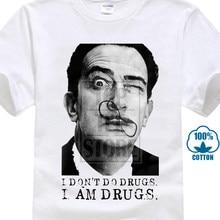 ed72dc078 Gildan Salvadore Dali Picasso Tribute Camiseta 100% Algodão Premium Os  Elefantes Impresso T Shirt Dos