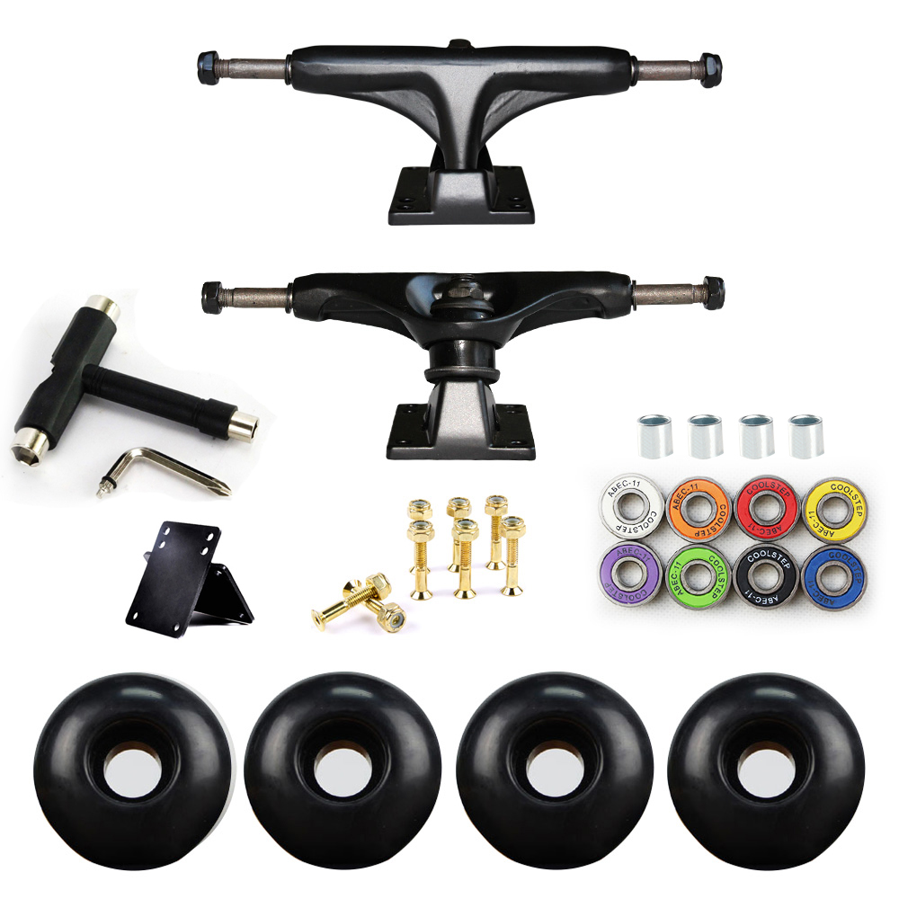 5in Skateboard Trucks Combo Set 5230mm Wheels Aluminum Magnesium Alloy Professional Bridge Skate Board Bracket Free Shipping