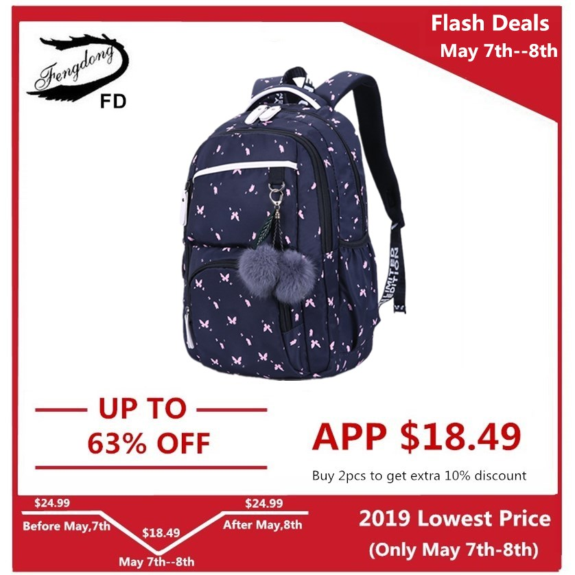 Kids & Baby's Bags Luggage & Bags Energetic Instantarts Novelty Butterfly Prints Women School Bags Casual Large Capacity Backpack For Students Mochila Knapsack Girls Kids A Complete Range Of Specifications