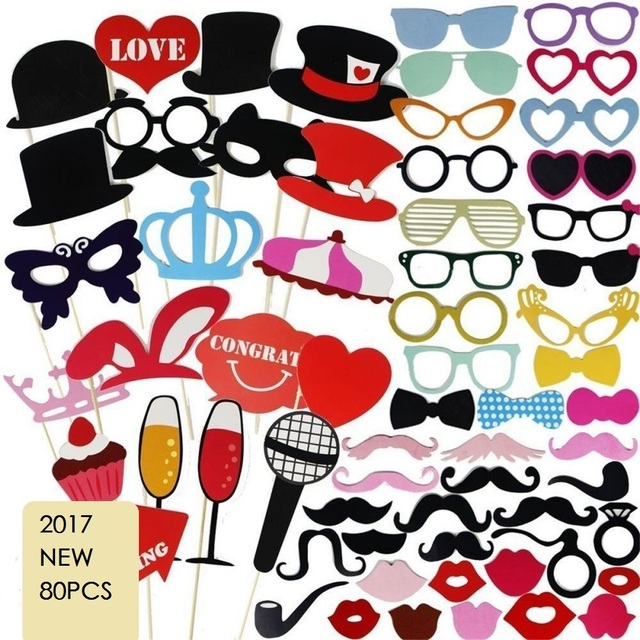 80pcs Kids Baby Bridal Shower Hy Birthday Party Favor Photo Booth Props Funny Masks Bridesmaid Gifts