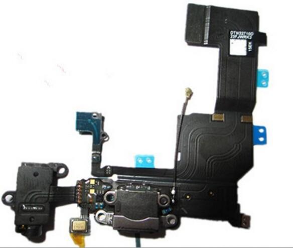 10 шт./лот черный и белый зарядное устройство зарядки порт подключения док-станции с шлейфом для айфон 5s
