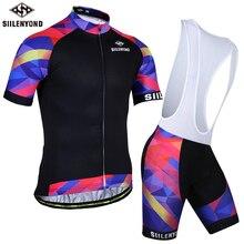 SIILENYOND летний комплект с коротким рукавом для велоспорта, одежда для горного велосипеда, одежда для гонок, горного велосипеда, Ropa Ciclismo, комбинезон