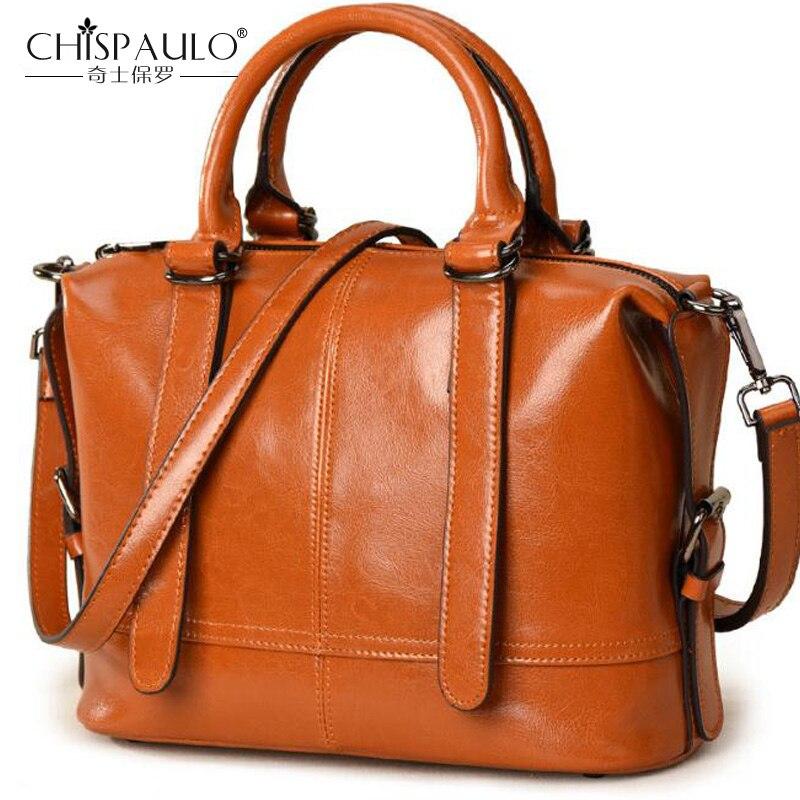 CHISPAULO mode marque femmes sac à main en cuir véritable femmes sacs décontracté sac à bandoulière célèbre Designer de luxe femmes sac sacs