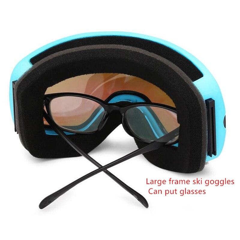 Lunettes de Ski Double lentille UV400 Anti-buée lunettes de Ski neige Ski Snowboard Motocross lunettes masques de Ski lunettes - 4