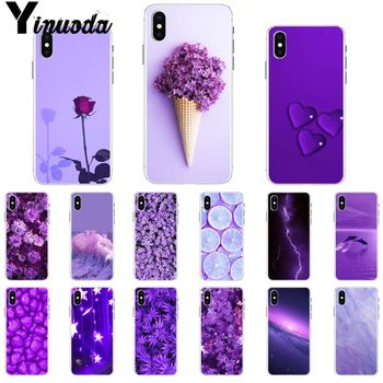 Yinuoda infinity on Purple Transparent Soft Shell Phone Cover for Apple iPhone 8 7 6 6S Plus X XS MAX 5 5S SE XR Mobile Cover image