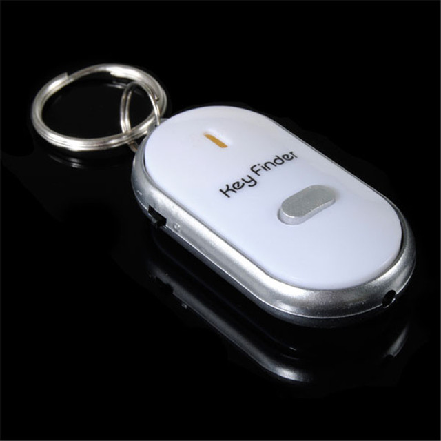 1pcs New Arrival High Quality Whistle Activated Key Finder With LED Light Black White For Personal Safely Security