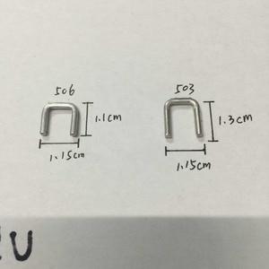 Image 5 - ZONESUN 1 klamra do ręcznego w kształcie litery U 506 503 szczypce do kiełbasy wycinarka ekspres do maszyn, klipsy do supermarketów dokręcania