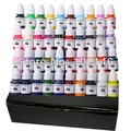 Top Quality Set Of 40 Colors Tattoo Ink 1/4OZ Pigment 8ML/Bottle For Tattoo Kits Gun Grips Beauty Tattoo Supply