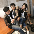 Семейные Сопоставления Leopard Пальто Мать Дочь Отец Сына Верхняя Одежда Семья Одежда Родитель-Ребенок Одежда Семья CP76