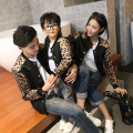 Family Matching Leopard Coats Mother Daughter Father Son Outerwear Clothes Family Clothing Parent-Child Clothing Family Set CP76