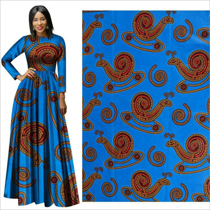 Me-dusa 2019 new Trojan folk-custom African Print Wax Fabric 100% cotton Hollandais Wax Dress Suit cloth 6yards/pcs High quility(China)