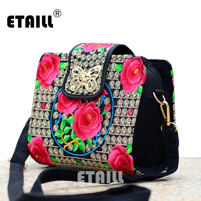 Double Side Ethnic Embroidered Sling Bags Embroidery One Shoulder Cross-body Sling Bag 3