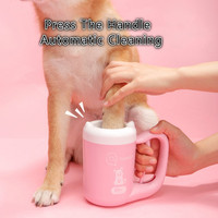 Portable Pet Foot Washer Cup Soft Silicone Bristles Pet Clean Brush Quickly Cleaning Dirty Paw Muddy Paw Plunger for Dogs
