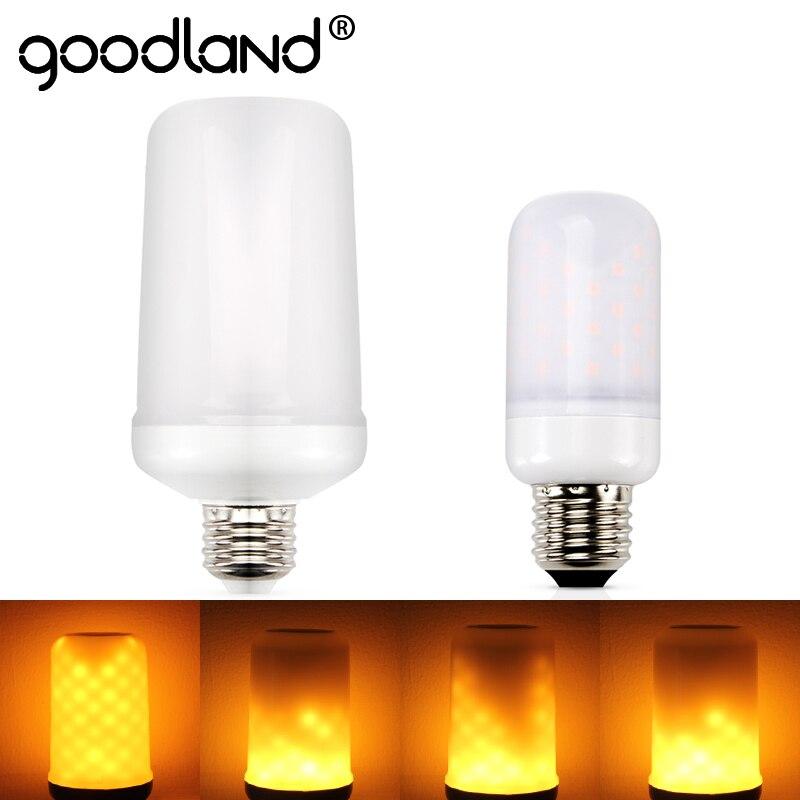 Goodland E27 Led Flame Lamp E14 LED Flame Effect Light Bulb E26 110V 220V Flickering Emulation Fire Lights 5W 7W Decoration Lamp
