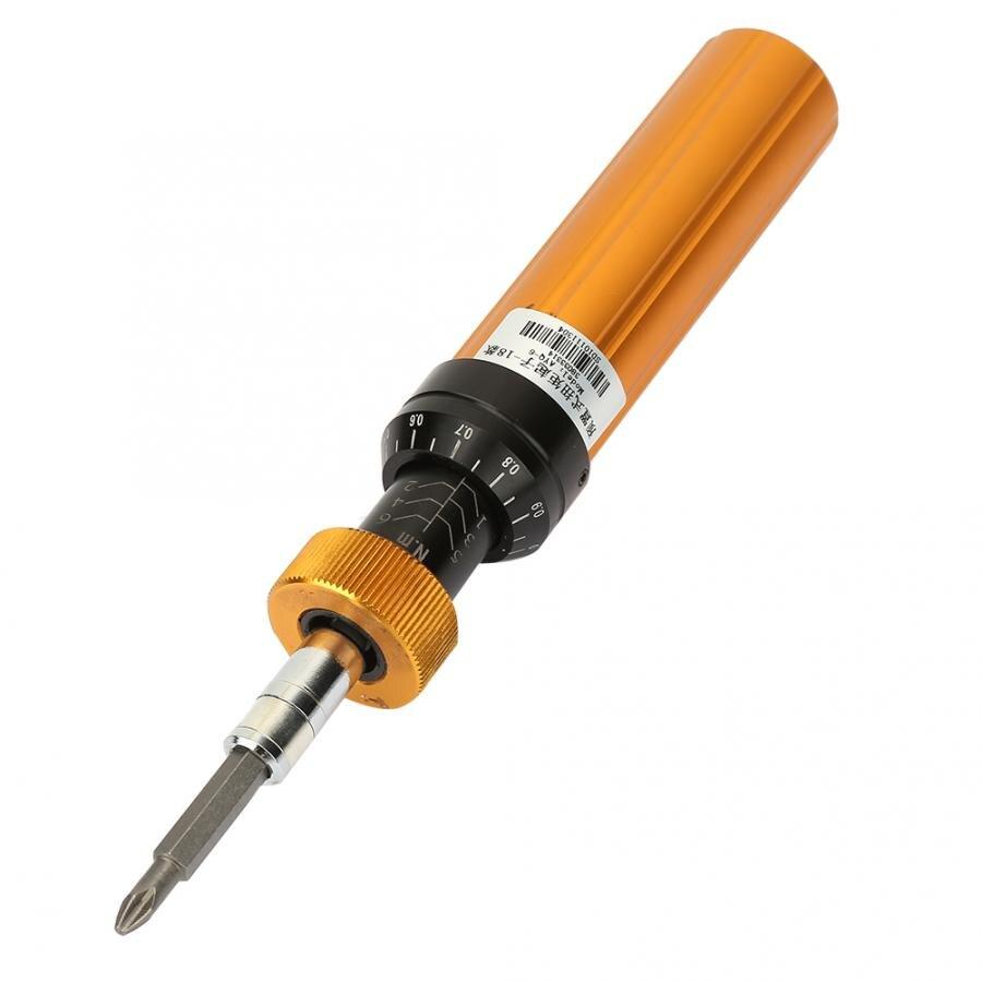 Alloy Steel Preset Type 1-6N.m Adjustable Torque Screwdriver High Accuracy Handheld Hex Socket Wrench Maintenance Repair Tool