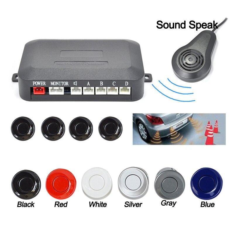 4 capteurs son parler système de capteur de stationnement de voiture avec alarme sonore/étanche, Assistant de voiture arrière