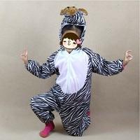 Nieuwe Jongen Meisjes Cartoon Dier Kostuum voor Kids Zebra Cosplay Jumpsuits Kleding Nieuwjaar Kostuums Party Gift Nieuwjaar