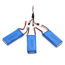 3 PCS 7 4V 1300mAh 25C Upgrade Battery 1 to 3 Charging Cable For MJX X101
