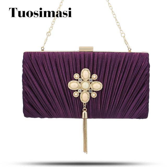 Evening Bag Clutch Bags Clutches Lady Wedding Purse Unique Handbags Silver Purple Black
