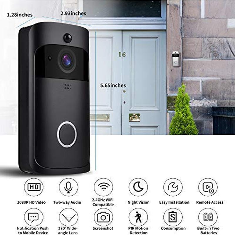 Wireless video doorbell intelligent full HD 1080P real time video intercom home camera two way audio