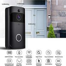 Беспроводной видеодомофон Интеллектуальный full HD 1080 P в режиме реального времени видеодомофон домашняя камера двухсторонний аудио беспроводной дверной звонок