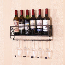 Metal Creative Wine Rack Iron Wall Hanging Shelf Home Metal Wine Holder fashion quality rose household wine rack baijiu home decoration iron wine holder