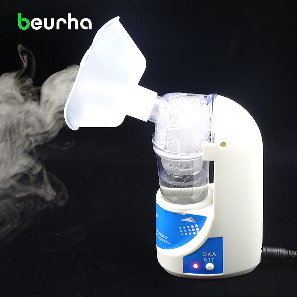Beurha 110V 220V Home Health Care Adult Children Care Inhale Nebulizer Portable Automizer Inhaler Free Shipping