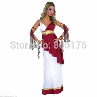 Free Shipping Zy390 New Womens Adult Greek Roman Empress Toga Fancy Dress Party Costume Sexy Costumes