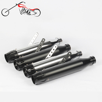 Two Sides Motorcycle Retro Exhaust Muffler Pipe Motorbike Slip On Vintage Silencer For Harley Custom Bobber Cafe Racer