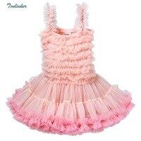 Baby Girl Pettiskirt Dress Chiffon Fluffy Ruffle Tutu Tulle Party Dress Infant Ballet Dance photography prop Dresses Vestido