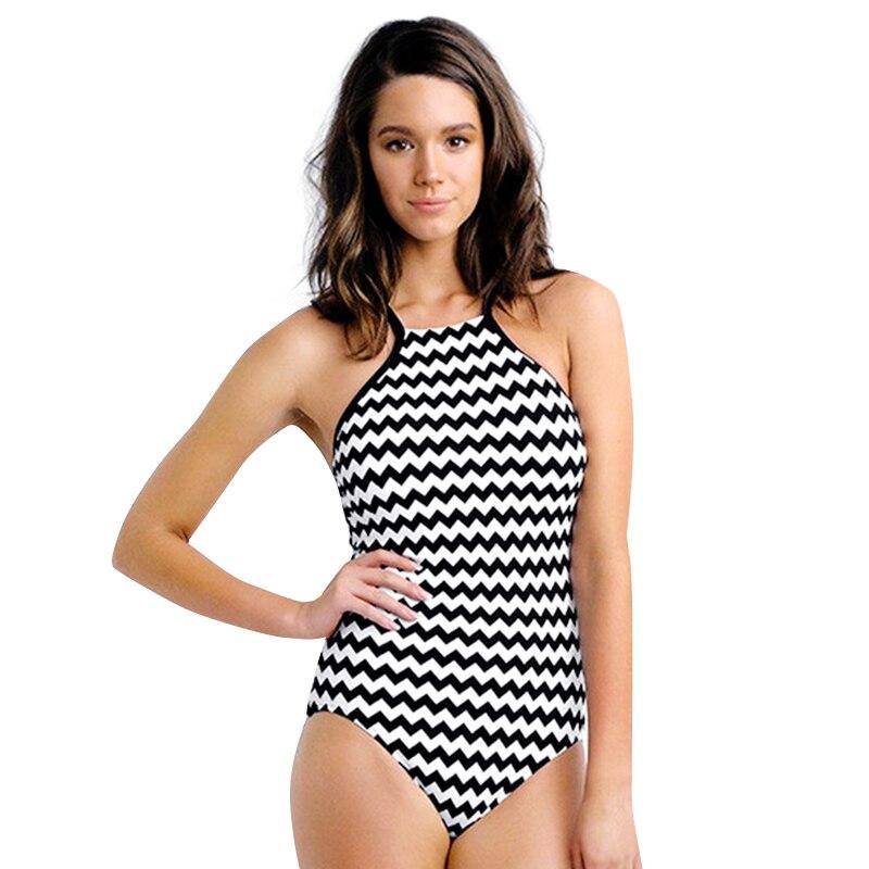 ba8febb5b5d11 Sea Bbot One Piece Swimsuit 2017 Stripe Swimwear Women Bathing Suit Swim  Vintage Summer Halter Beach