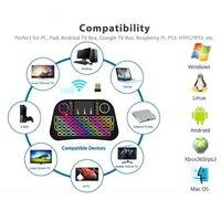 עם התאורה האחורית מקלדת המיני האלחוטית עם התאורה האחורית מולטימדיה מרחוק מקשי שליטה ו- PC Gaming בקרת Touchpad עבור טלוויזיה, מחשב לוח אנדרואיד טלוויזיה תיבה חכמה (3)