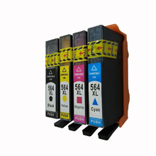 Vilaxh 4pcs For Hp 564 564xl compatible ink cartridge for HP 5515 7515 5510 5511 5512 5514 C5383 D5400 B209a