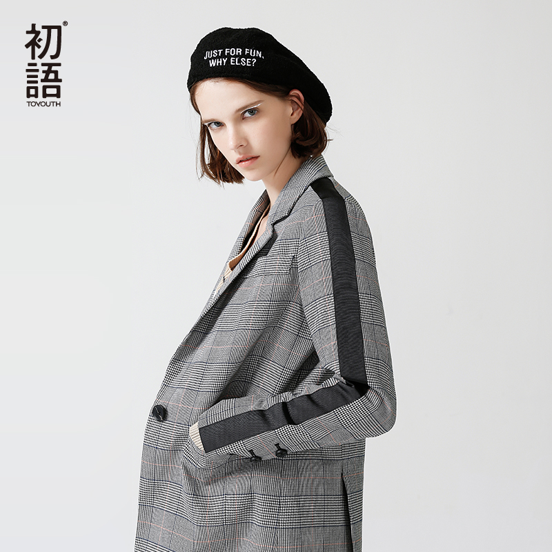 Toyouth New Arrivals 2018 Spring Women Blazers Slim Turndown Collar Office Lady Jacket Casual ...