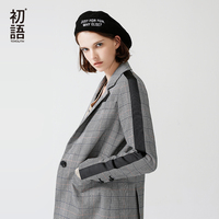 Toyouth New Arrivals 2018 Spring Women Blazers Slim Turndown Collar Office Lady Jacket Casual Black White