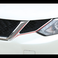 Voor Nissan Qashqai J11 2016-2019 Chrome Front Grille Grill Head Light Lamp Cover Trim Insert Styling Molding garneer 2Pcs