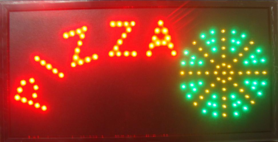 2017 Pizza shop open led sign hot sale customed 10x19 inch semi-outdoor Pizzas store Ultra Bright flashing led sign