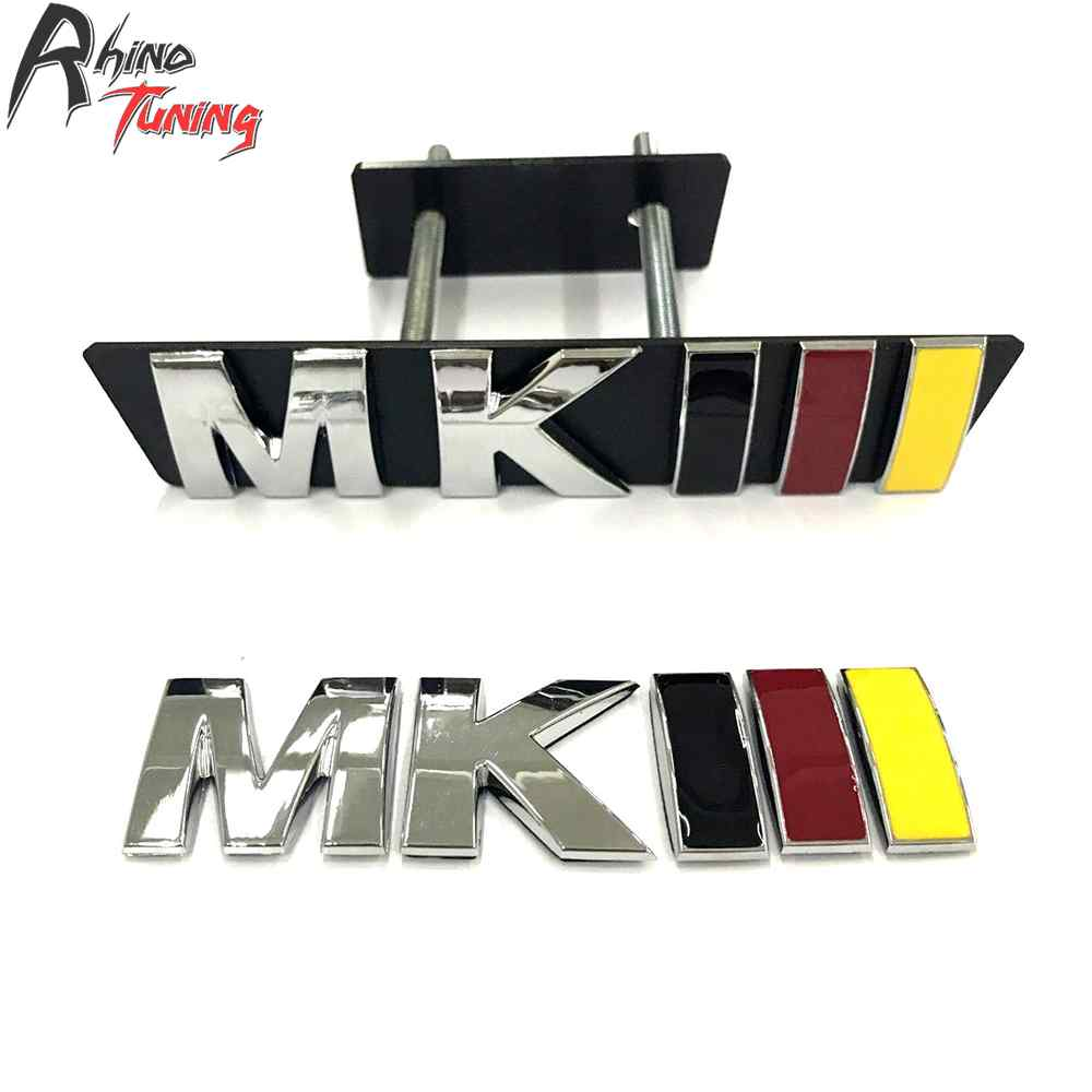 Rhino Tuning MKIII Auto Styling Car Front Grille Grill Emblem Badge For Golf 3 MK3 Jetta Sticker 20735 31x12x3 inch universal turbo fmic intercooler 3 inch piping kit toyota supra mkiii mk3 7mgte