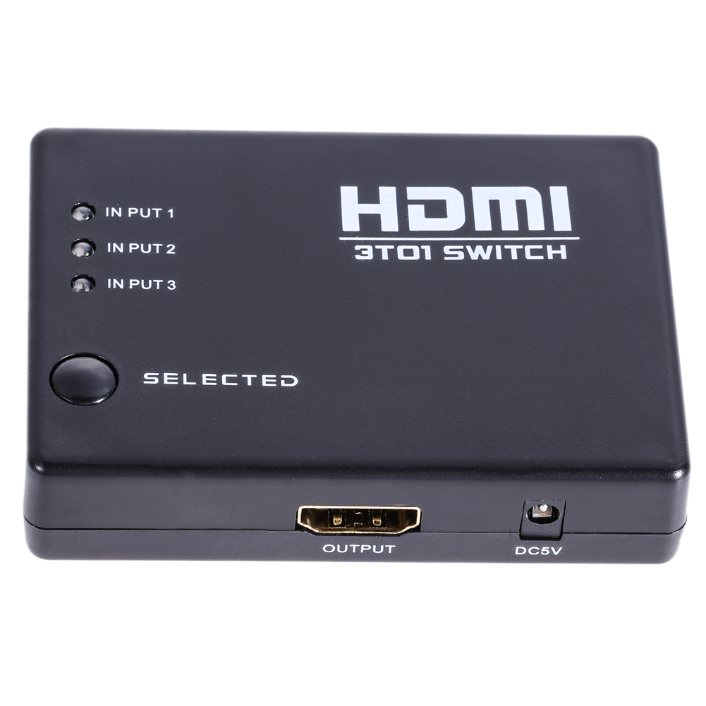 3 Ports Remote Control 1080P HDMI Switch Switcher Selector 4K X 2K HDMI 1.4a 3 in 1 out Splitter for PS3 HDTV/Monitor