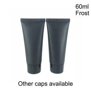 Image 5 - 60 ml Frost Schwarz Kunststoff Creme Squeeze Flasche 60g Kosmetische Gesichts Reiniger Weichen Schlauch Shampoo Lotion pack Flaschen Freies verschiffen