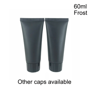 Image 5 - 60ml Frost Black Plastic Cream Squeeze Bottle 60g Cosmetic Facial Cleanser Soft Tube Shampoo Lotion pack Bottles Free Shipping