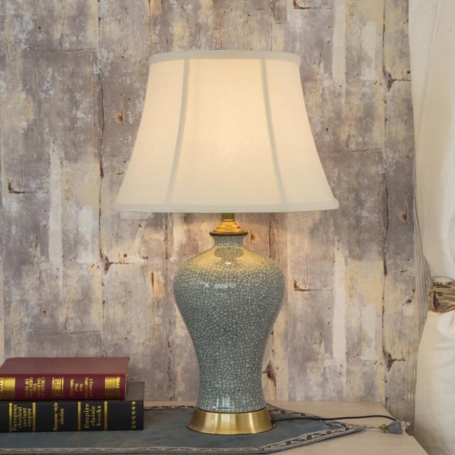 Art Chinese porcelain ceramic table lamp bedroom living room wedding ...