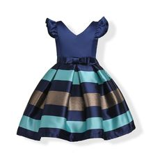 Baby Girls Striped Dress For Girls Formal Wedding Party Dresses Sleeveless Children Princess dress Kids Party Dresses for Girls formal wedding party dresses baby girls striped dress for girls kids princess christmas dress up costume children girl clothing