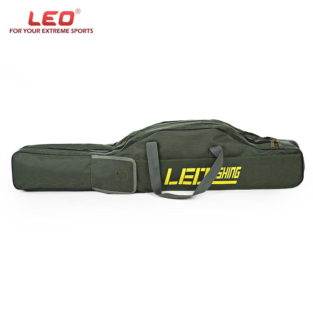 Tragbare Angeln Klapp Angelrute Träger Leinwand Angelrute Werkzeuge Lagerung Tasche Fanggeräte Angelgerät LEO 100 cm/150 cm