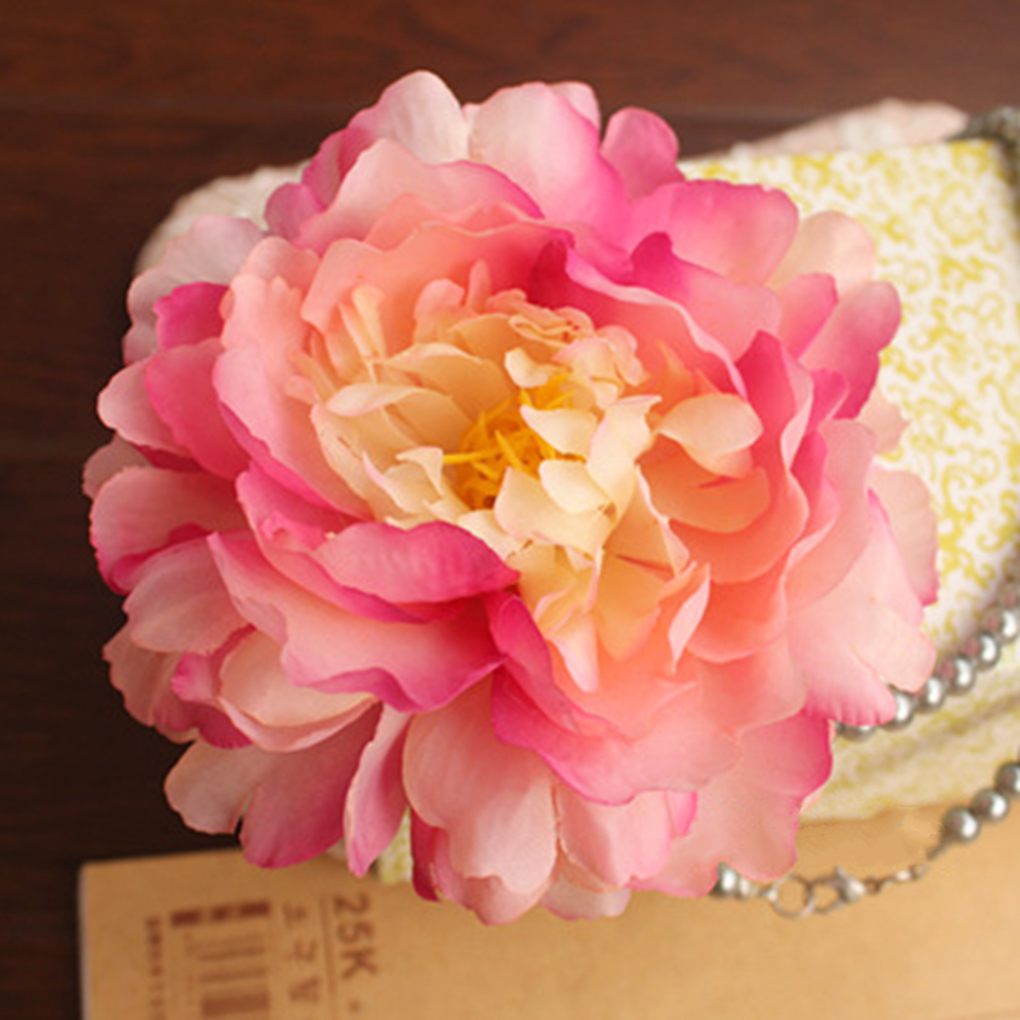 Peony Craft Artificial Silk Flower Spherical Heads Clothes