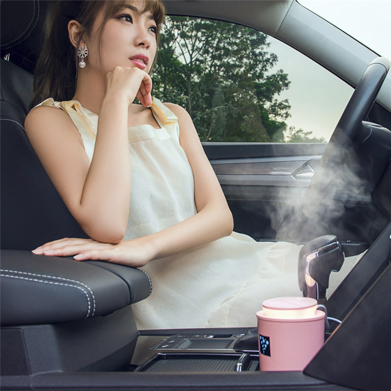 ABS+PP+Silicone 35ml/H USB LED Ultrasonic Family Car Humidifier Air Distributor Purifier Nebulizer Auto Accessories Car Styling ...