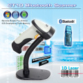 Free Bracket holder+CT10 Wireless Bluetooth 1D Barcode Scanner Barcode reader W/ Auto Induction for iOS, Android windows